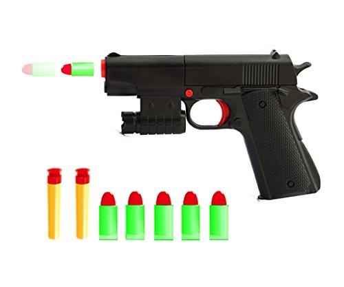 Ferbixo Kid Toy Gun Realistic 1:1 Scale Colt M1911A1 Rubber Bullet Pistol Mini Pistols
