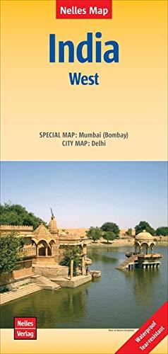 Nelles Map Landkarte India: West 1:1 500 000: 1:1,5 Mio   reiß- und wasserfest; waterproof and tear-resistant; indéchirable et imperméable; irrompible & impermeable