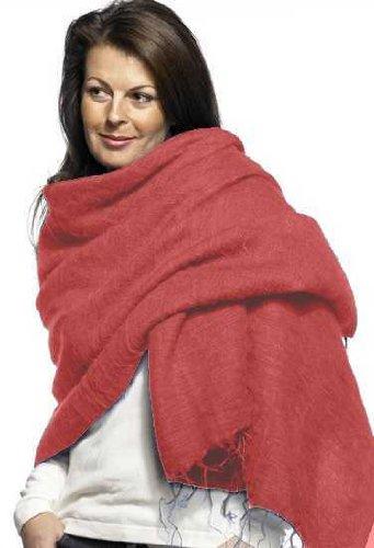 Bufanda/Wrap–100% comercio justo–Chal de lana sintética de Yak de Nepal rosa rosa claro Talla única