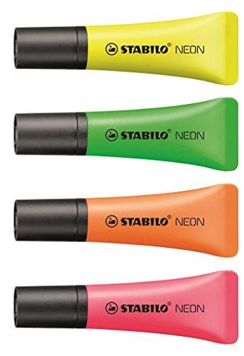 Evidenziatore - STABILO NEON Colormix - Confezione da 10 - Colori assortiti