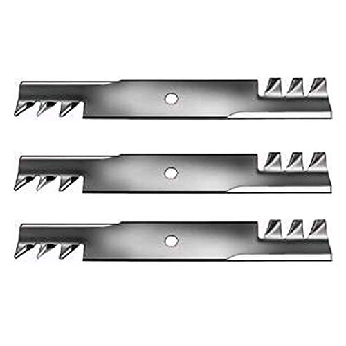 Set of 3 New Toothed Mulching Blade Fits Raptor, Fits Toro, Universal, Universal Products 74830, 74841, 74845, 74851, 74855, 74871, Titan Z 48' Models Interchangeable with 107-3192, 107-3192-03