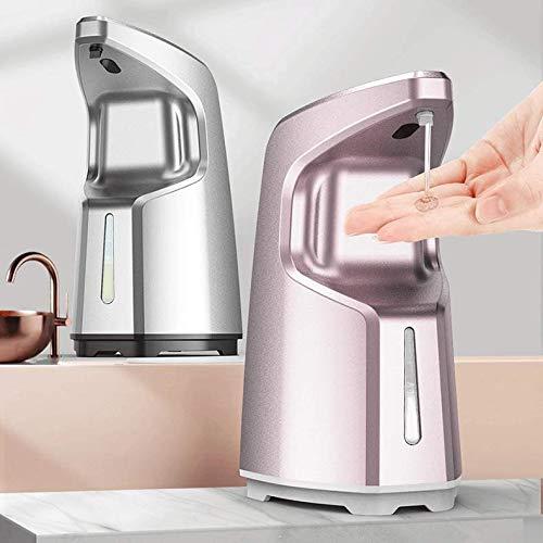 Sunloud dispensador automático de gel hidroalcohólico manos libres (Blanco), dispensador de jabón con sensor infrarrojo con depósito de 450 ml y 4 niveles de dosificación