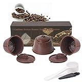 BLS 3 Pack Cápsulas filtros de café Reutilizables Para Dolce Gusto cafetera Accesorios para cafeteras Recargables i cafilas Cuchara de café y Cepillo