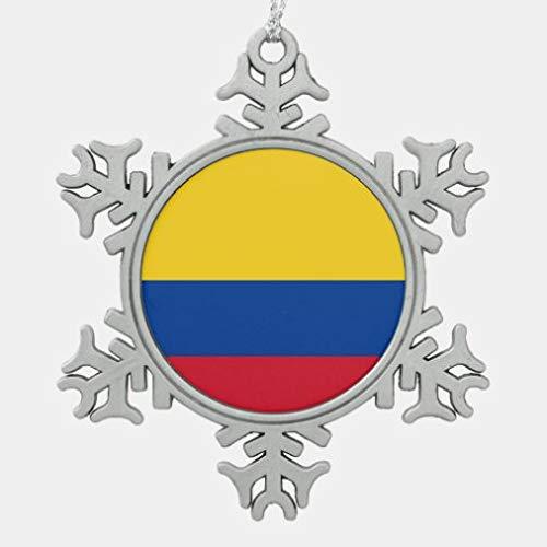 onepicebest - Adorno con bandera de Colombia para colgar árbol de Navidad, recuerdo para amigos de la familia, regalos de Año Nuevo, ornamento conmemorativo