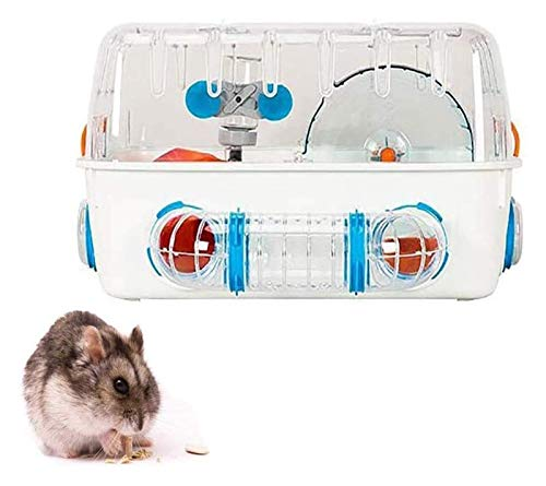 ZHZH Habitat of Love, Hamster Cage Gerbil House Includes Water Bottle Exercise Wheel Food Bowl Hamster Hide-Out Small Animal Habitat, Best Care for Small Animals