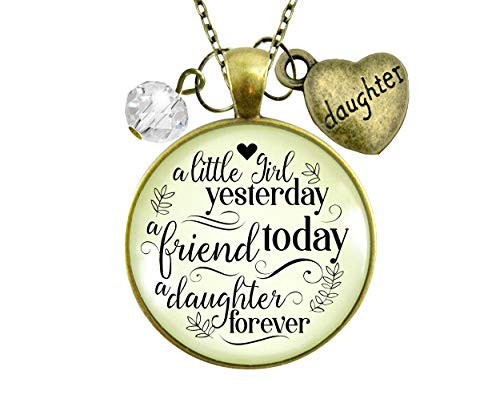 gutsy goodness friend pendants Gutsy Goodness To My Daughter From Dad Necklace Little Yesterday My Friend Jewelry Gift 24
