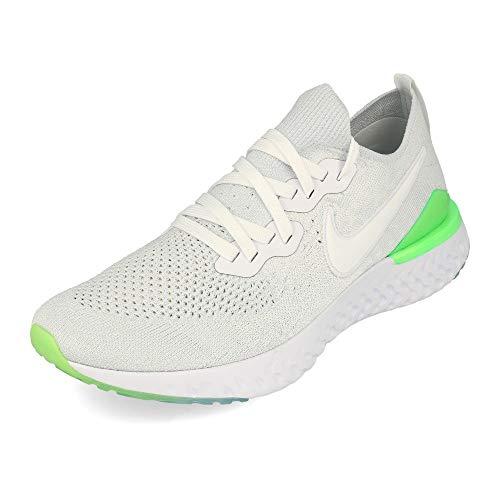 Nike Men's Epic React Flyknit 2 Running Shoe White/Lime Blast/White 10 M US