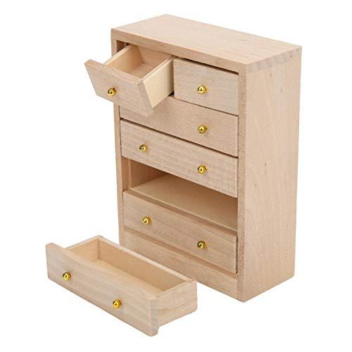 Gabinete modelo de casa de muñecas gabinete de madera en miniatura de alta calidad excelente para 1:12 casa de muñecas DIY accesorio de muebles de casa de muñecas