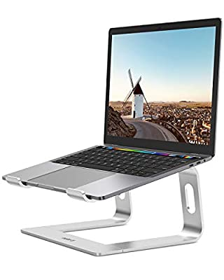 """NULAXY Laptop Stand,Aluminum Removable Laptop Holder, Ventilated Notebook Stand Compatible for MacBook Pro/Air, 10-15.6"""" Notebook and Samsung Tablet,HUAWEI MateBook (Silver)"""