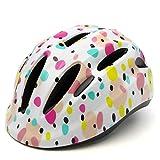 M Merkapa Kids Bike Helmet Adjustable 3D Shark Bicycle Helmets for Toddler and Youth (Polka Dot, M)