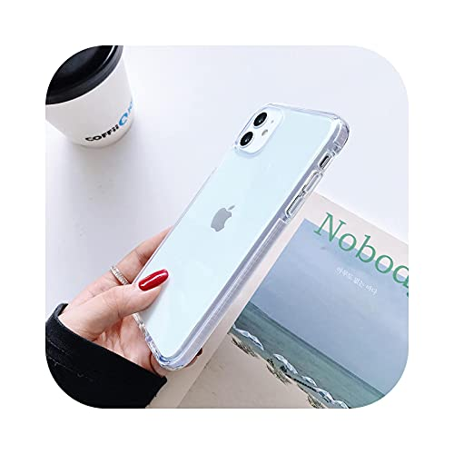 Caja transparente del teléfono del caramelo de lujo para el iPhone 11 12 Pro Max XS X XR 7 8 6 6S Plus SE silicona suave a prueba de golpes casos cubierta blanco para iPhone XR