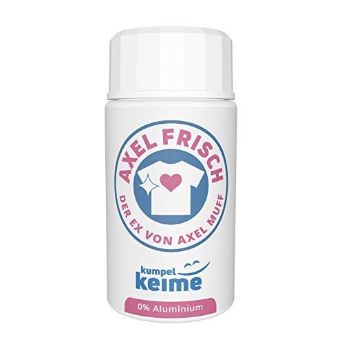 Axel Frisch - Das mikrobiologische Deo Pulver gegen Schweiß-Geruch - Probiotisches geruchsfreies Textildeo ohne Aluminiumsalze
