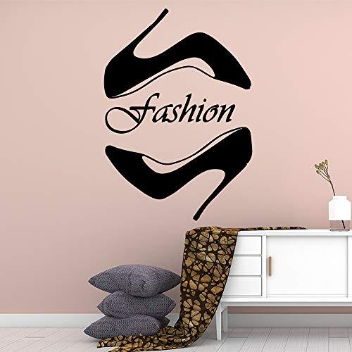 mlpnko Fun Mode Schuhe wasserdicht Wandaufkleber Dekoration Kinderzimmer natürliche Art Deco Vinyl Wandaufkleber 45x63cm