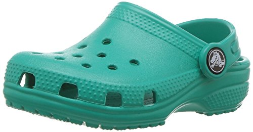 Crocs Classic Clog Kids Roomy fit Zuecos Unisex niños, Turquesa (Tropical Teal), 19/20 EU