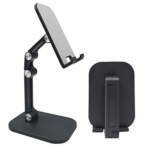 Supporto Tablet, Supporto Cellulare da Tavolo Pieghevole e Regolabile, Universale Stand Dock per 2021 iPad PRO 9.7 10.5 12.9, iPad Mini 2 3 4, iPad Air Air 2, Samsung Tab,Kindle,Nintendo Switch (Nero)