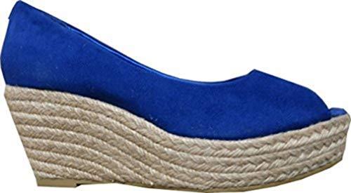 Linea Tesini Eyecatcher - Peeptoe Farbe Marine Blau Gr. 39