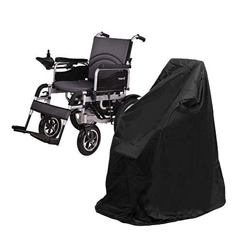 Rollstuhl Schutzhülle, Winddicht Und UV Beständig Oxford Rollstuhl Tasche Rollstuhltasche Hinten Wasserdicht Rollstuhl Rucksack Aufbewahrungstasche Für Rollstuhl Griffe (Schwarz)