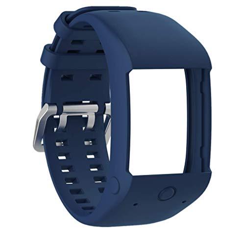 Huabao Correa de Repuesto de Silicona Pulsera para Polar M600 (Azul Oscuro)