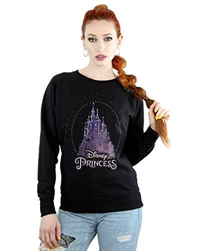 Disney Damen Princess Christmas Castle Sweatshirt Schwarz X-Large