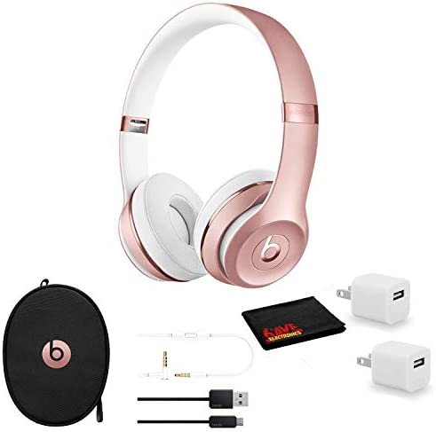 Beats by Dr Dre Beats Solo3 Wireless On Ear Bluetooth Headphones Rose Gold Kit with USB Adapter product image