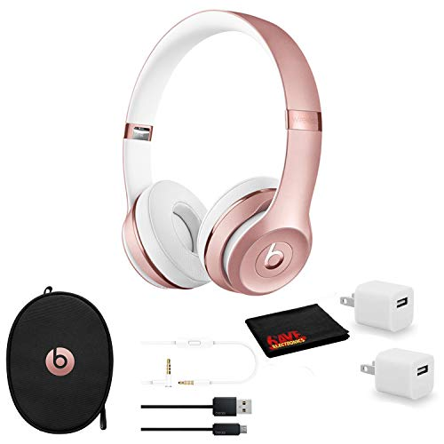 Beats by Dr. Dre Beats Solo3 Wireless On-Ear Bluetooth Headphones (Rose Gold) - Kit with USB Adapter Cube