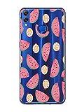 Oihxse Case Transparente Suave TPU Compatible con Huawei P10 Funda [Lindo Caricatura Flor Serie Dibujos] Cristal Protector Carcasa Anti Rasguños Bumper Cover-Sandía