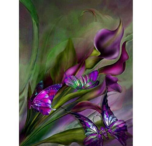 DIY 5D diamant schilderij, bloemen, sterke dranken, mozaïek, moderne afbeelding, thuisdecoratie, handwerk, kruissteek, zelfklevend, schilderij voor meisjes, 40 x 50 cm, cadeau voor mama