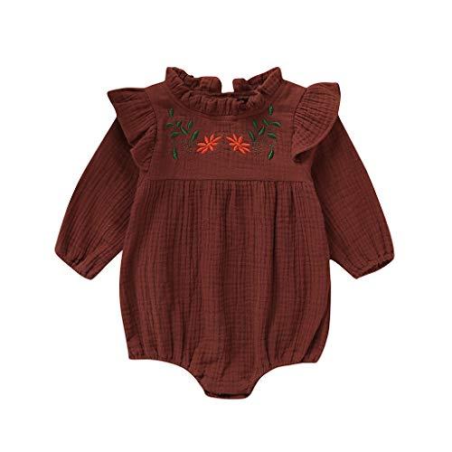 Pingtr Baby Wickelbody,Neugeborenes Baby Nette Kurzarm Rüschen Bogen Strampler Body + Hut (6M-24M)