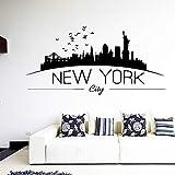 wukongsun New York City Schlafzimmer dekorative wandaufkleber Wohnzimmer Dekoration Vinyl Aufkleber...