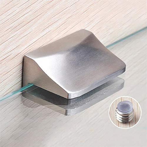 CAVIVI Solid Glass Clamp Glasscharnier Glasbodenträger Wandmontage Adaptive 6-8MM Dicke Glas Edelstahl