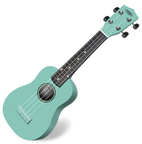 Classic Cantabile US-100 TQ Sopranukulele (Ukulele, Uke, 15 Bünde, leichtgängige Gitarrenmechanik) türkis