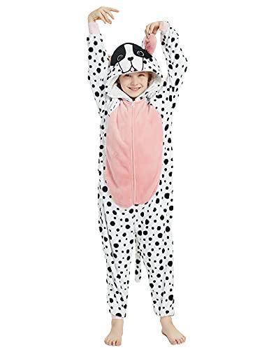 ABASACO Dog Onesie Kids Plush Animal One Piece Pajamas Halloween...
