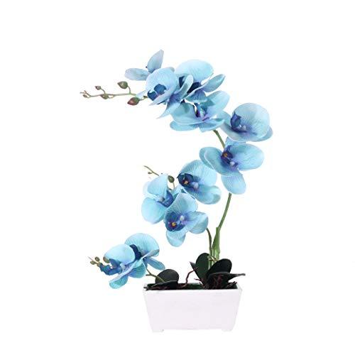 Blue Orchids Artificial Flowers, Orchids Artificial Arrangement ,Silk Orchids in...