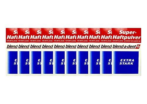 10x BLEND A DENT Super Haftpulver extra stark 168605 50 g PZN 3384395