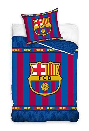 Carbotex FC Barcelona - Fútbol Ropa de Cama, 135x200 cm, Fcb