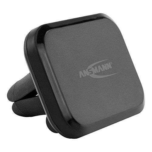 ANSMANN Handyhalter fürs Auto mit Magnet - KFZ Handy Halterung zur Befestigung am Lüftungsgitter - KFZ Handyhalterung Auto Lüftung - Magnethalter ideal als Auto Zubehör für Smartphone & Navi