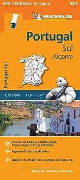 Mapa Regional Portugal Sul - Algarve  Portuguese Edition