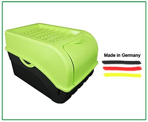 Novaliv Kartoffel Aufbewahrungsbox | groß 9L | GRÜN | Kartoffelbox | Gemüsebox stapelbar Zwiebelbox Kartoffelkorb Obstbehälter Kartoffelkiste Zwiebel Aufbewahrung Frischhaltedose Möhren