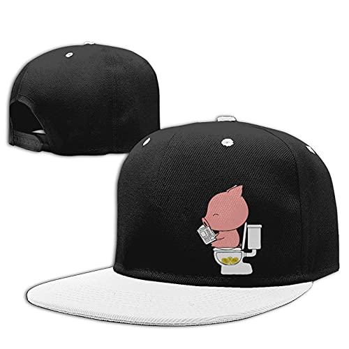 Gorras de Camionero con Estilo al Aire Libre del Sombrero de Hip Hop de los Deportes Ajustables del algodón de la Gorra de béisbol Full of Taste Pig Poop Money