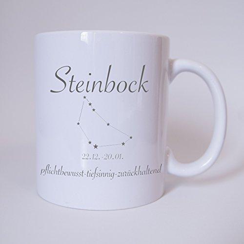 Sternzeichen Steinbock - Tasse - Kaffeetasse - Tasse mit Spruch