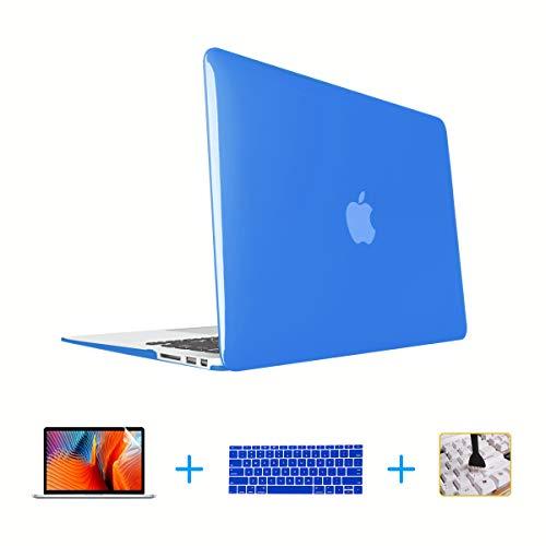 VAESIDA - Carcasa rígida de plástico para MacBook Air de 13,3 Pulgadas (Modelo A1369/A1466), diseño con Barra táctil Crystal Royal Blue