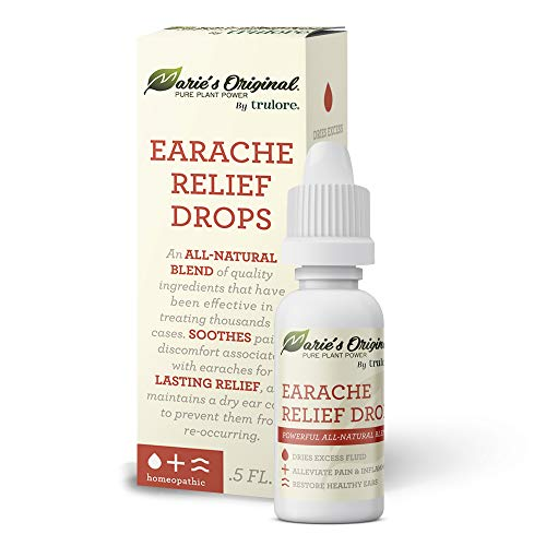 Natural Earache Drops for Ear Infection Prevention, Pain Relief, Swimmers Ear - Homeopathic, Holistic, Vegan Herbal Ear drops for Adults, Children - Made in USA, Healthy, Safe for Kids