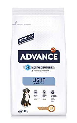 ADVANCE Light Maxi Adult - Pienso Light para Perros Adultos de Razas Grandes - 14 Kg
