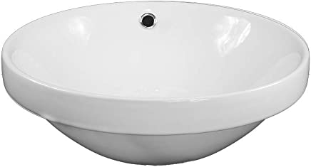 Santo Round Circle Vessel Basin Ceramic White Bathroom Sink 445mm