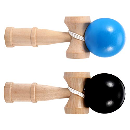 BESPORTBLE 2pcs Kendama Toy Balance Kendama Pro Model Wood Catch Ball Cup and Ball Game Ball Catching Cup for Beginners and Experts