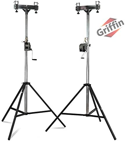 GRIFFIN Crank Lighting Truss Stands T Adapter Bar DJ Booth Trussing System for Light Cans Speakers product image