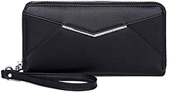 KOWENTIK Women Wallet Leather Zip Phone Clutch Large Travel Organizer