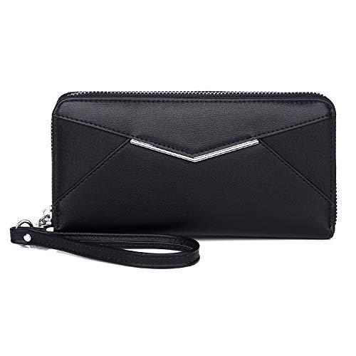 KOWENTIK Women Leather Zip Phone Clutch $8.39 (40% Off with code)