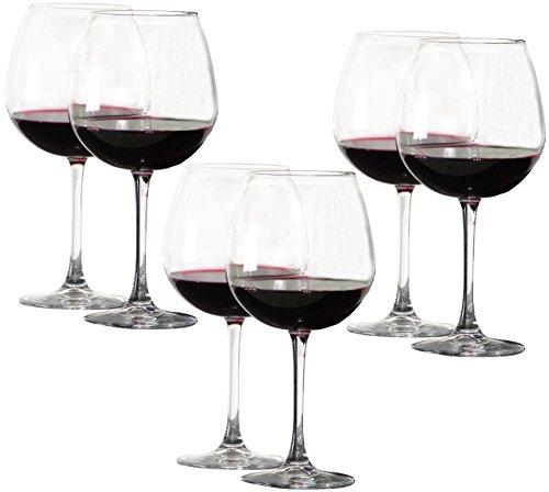 6 Stück (3X 2 Stück) sehr große 0,78 Liter Weingläser XXL, Weinglas, Rotwein Glas, Burgunderglas groß