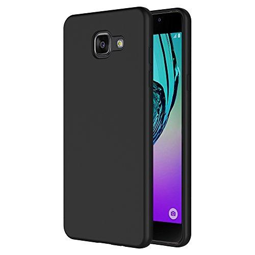 AICEK Cover per Samsung Galaxy A5 2016, Cover Galaxy A5 2016 Nero Silicone Case Molle di TPU Sottile Custodia per Samsung Galaxy A5 2016